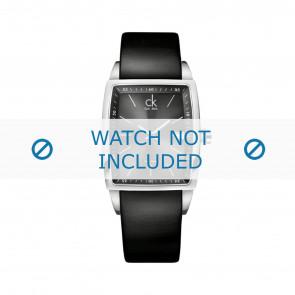 Calvin Klein horlogeband K30411 Leder Zwart