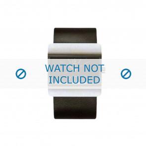 Calvin Klein horlogeband K52211.04 / K600058403 Leder Zwart