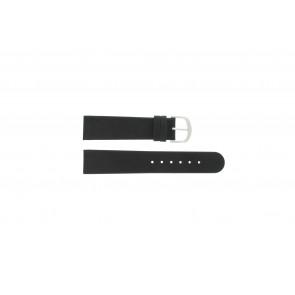 Danish Design horlogeband IQ13Q272 / IQ12Q272 / IQ14Q199 / IQ16Q563 / IQ13Q585 Leder Zwart 18mm