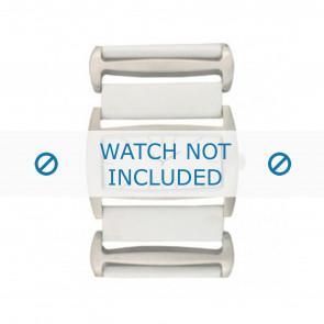 Davis horlogeband BB0755 Leder Wit 36mm