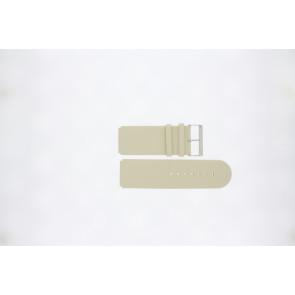 Jacques Lemans horlogeband DC218 / BE Leder Beige 26mm