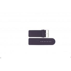 Jacques Lemans horlogeband DC218 / PUR Leder Paars 26mm