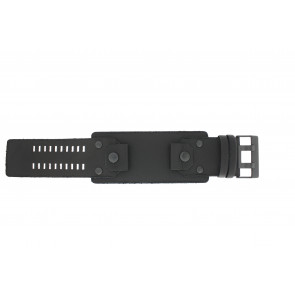 Diesel horlogeband DZ4272 Leder Zwart 26mm
