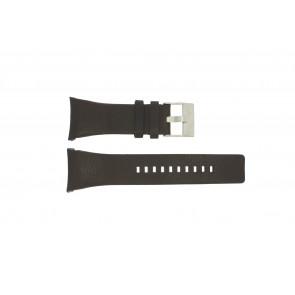 Diesel horlogeband DZ-1156 / DZ-1157 Leder Zwart 30mm