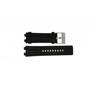 Diesel horlogeband DZ-4118 Leder Zwart 20mm