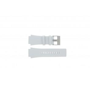 Diesel horlogeband DZ1449 Leder Wit 25mm