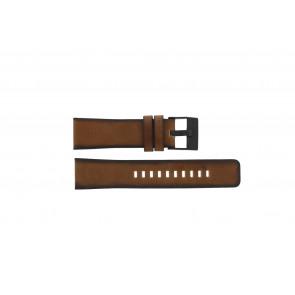 Diesel horlogeband DZ-4317 Leder Bruin 24mm