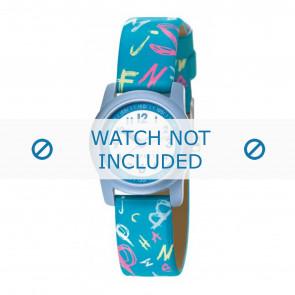 Esprit horlogeband 000FA4 / 000FA4029 / ES000FA4-40BL Leder Blauw