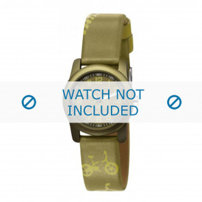 Esprit horlogeband ES000FA4-40GR / 000FA4044 Leder Groen