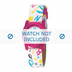 Esprit horlogeband ES000FA4-40 / 000FA4030 Leder Wit