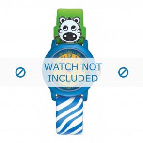 Esprit horlogeband ES106414-40BLGR Leder Blauw