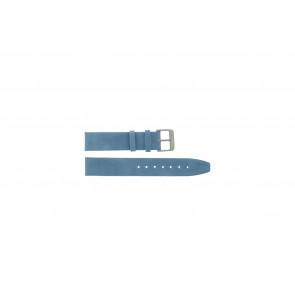 Echt leder saddle blauw 26mm H53