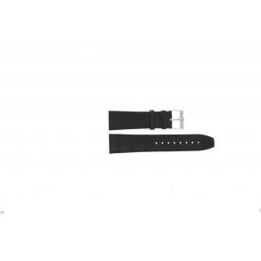 Jacques Lemans horlogeband FC29 / 9-201 Leder Zwart 23mm + zwart stiksel