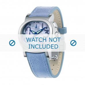 Festina horlogeband F16125.2 Leder Blauw 23mm + blauw stiksel