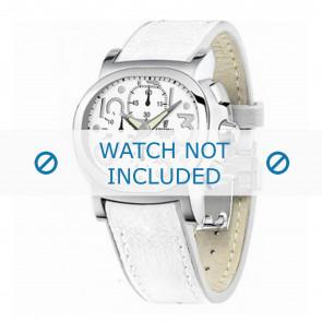 Festina horlogeband F16125.7 Leder Wit 23mm + wit stiksel