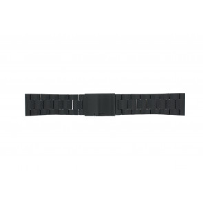 Fossil horlogeband FS4552 / FS4718 / FS4719 / JR1356 Staal Zwart 24mm