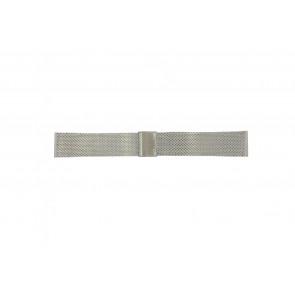 Davis horlogeband B0810 Staal Zilver 22mm