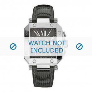 Guess horlogeband GCA50006G2 Leder Zwart + standaard stiksel