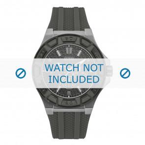Guess horlogeband W0674G8 Rubber Zwart 17mm