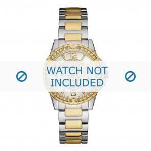 Guess horlogeband W0705L4 Sassy Staal Bi-Color 18mm
