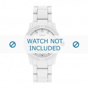 Guess horlogeband W0944L1 Funfetti Kunststof / Plastic Wit 20mm