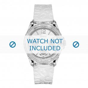 Guess horlogeband W0947L2 Starlight Kunststof / Plastic Wit 21mm