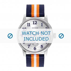 Guess horlogeband W0975G2 Brooklyn Textiel Multicolor + standaard stiksel