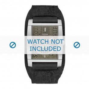 Guess horlogeband W95089G1 Leder Zwart + standaard stiksel