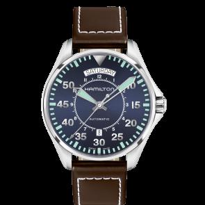 Horlogeband Hamilton H64615545 Leder Donkerbruin 20mm