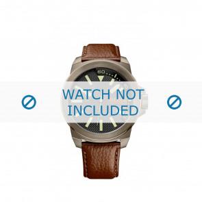 Hugo Boss horlogeband HB-238-1-34-2757 / 1513168 / Orange Leder Bruin 24mm + bruin stiksel