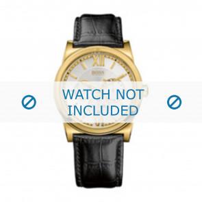 Hugo Boss horlogeband 1512590 / HB-127-1-34-2301 / HB659302290 Leder Zwart 23mm + zwart stiksel