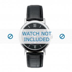Hugo Boss horlogeband HB-24-1-14-2034 / HB1512093 / HB1512092 Leder Zwart 20mm + zwart stiksel