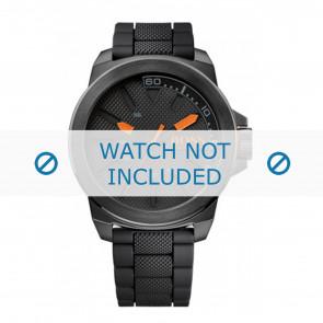 Hugo Boss horlogeband HO1513004 / HB-221-1-34-2625 Rubber Zwart 24mm