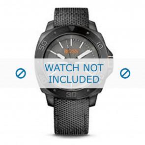 Hugo Boss horlogeband HB-143-1-34-2660 / HO1513067 / HO1513068 / HO1513069 Canvas Grijs 22mm + grijs stiksel