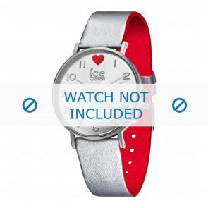 Ice Watch horlogeband 013375 Leder Zilver 18mm