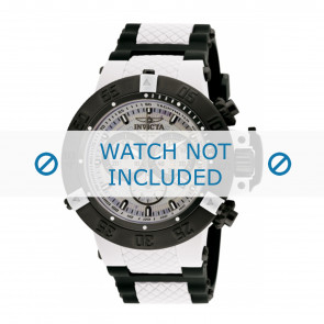 Invicta horlogeband 0933 Rubber Wit 29mm