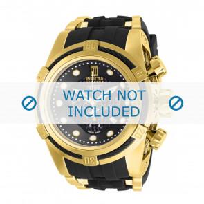 Invicta horlogeband Jason Taylor 12955 Rubber Zwart