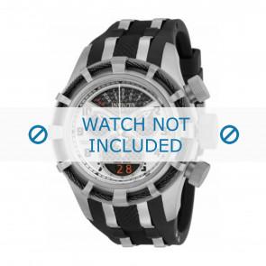 Invicta horlogeband 17464 Rubber Zwart