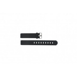 Jacob Jensen horlogeband 732 / 742 / 640 / 641 / 660 / 662 / 680 / 681 Rubber Zwart 17mm