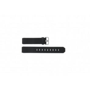 Jacob Jensen horlogeband 600 / 800 / 860 / 861 / 880 / 881 / 603 / 605 / 606 / 805 / 806 / 840 / 841 / 842 Leder Zwart 19mm