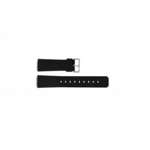 Jacob Jensen horlogeband 100 / 120 / 23x19mm Rubber Zwart 23mm