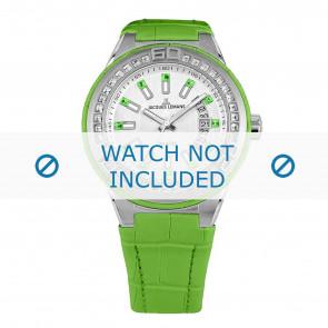 Jacques Lemans horlogeband 1-1776I Leder Groen + standaard stiksel