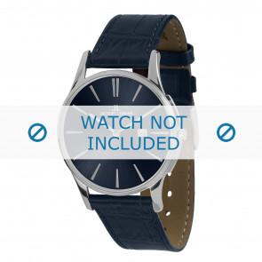 Jacques Lemans horlogeband 1-1936C Leder Blauw + standaard stiksel