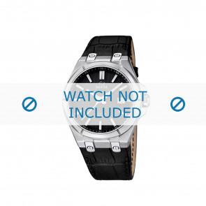 Jaguar horlogeband J670.3 / J670.6 Croco leder Zwart + zwart stiksel