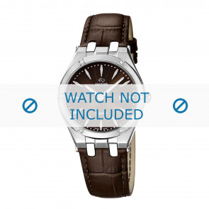 Jaguar horlogeband J674-2 Leder Bruin + bruin stiksel