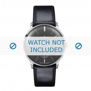 Junghans horlogeband 027/3503.00 Leder Zwart 20mm + standaard stiksel