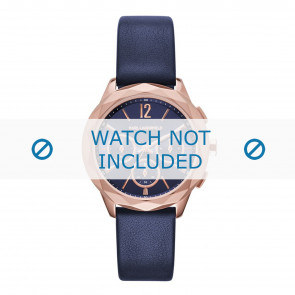 Karl Lagerfeld horlogeband KL4010 Leder Blauw