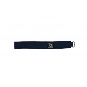 Horlogeband 5883-06-16 Klittenband Blauw 16mm