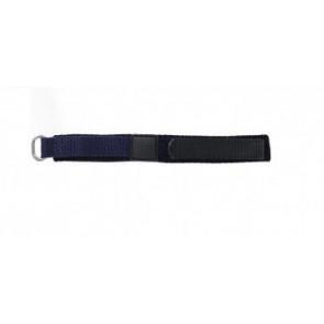 Klittenband 14mm donker blauw