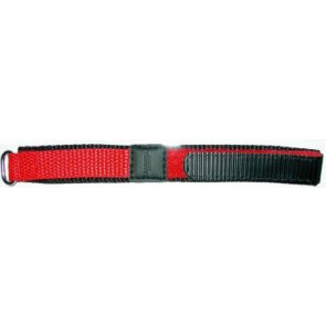 Klittenband horlogeband 20mm rood